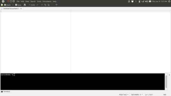 A maximised window in Unity merges nicely with the top panel
