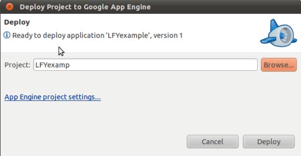 Deploying an App Engine Application