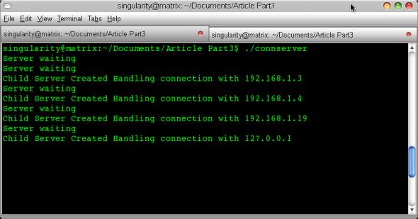 Server screen