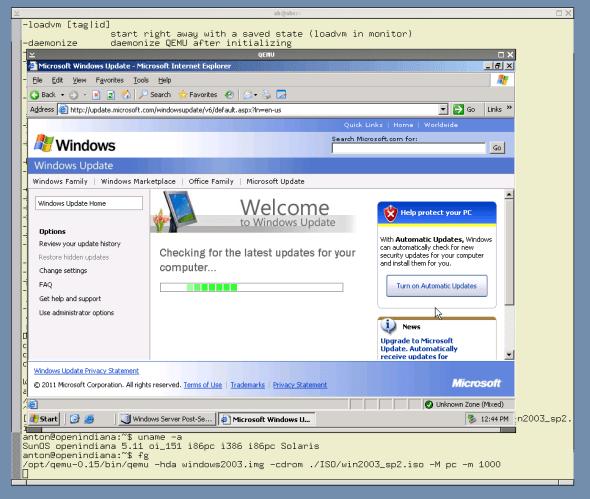 Windows 2003 EE in QEMU 0.15
