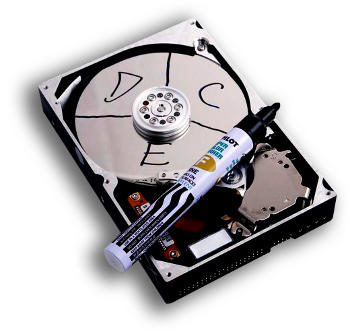 Inside the hard drive