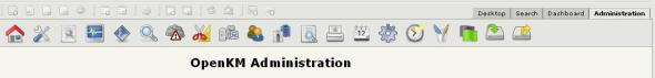 The OpenKM administration tab