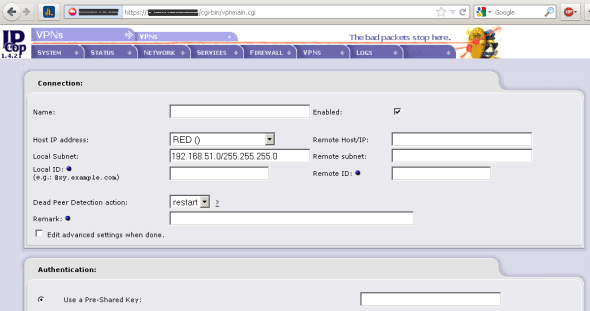 Configuring site-to-site VPNs