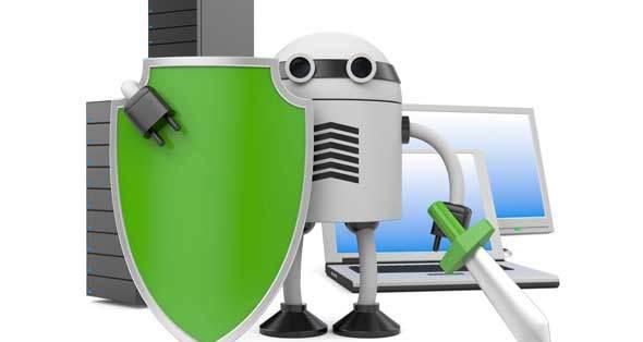 Robot-securing-desktop
