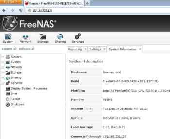 Figure 1 FreeNAS