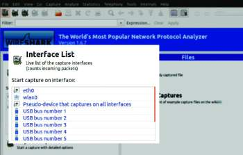 Screenshot1- Wireshark interface selection