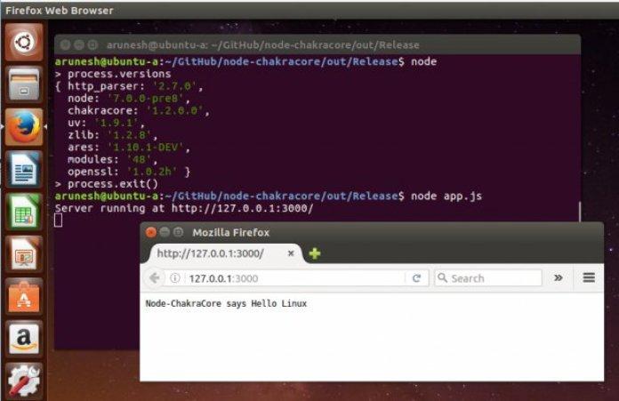 Node.js on Microsoft ChakraCore