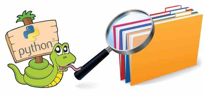 Python files search