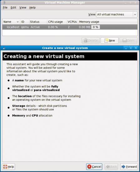 Figure 03: Create a new virtual system