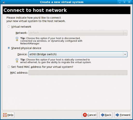 Figure 6: How to connect to the host network?