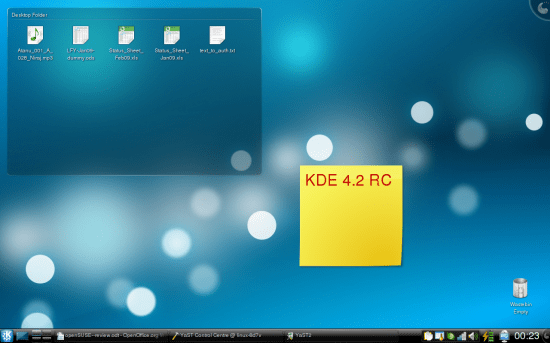 Figure 4: KDE 4.2 RC on openSUSE 11.1