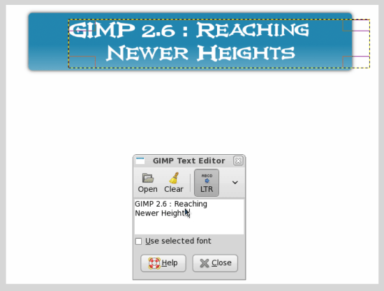 Figure 4: New text selection and management tool