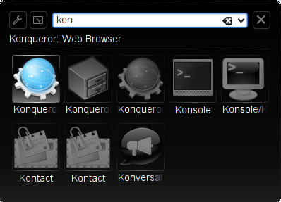 Figure 5: The KRunner application launcher