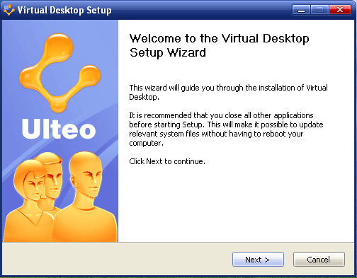 Figure 1: Virtual Desktop set-up