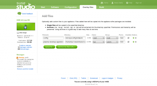 Figure 6: Overlay files section -- files were added while test drive