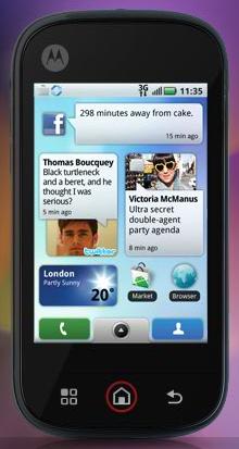MOTO BLUR - Motorola's customized Android OS
