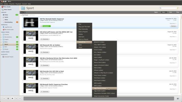 Miro 3.5 file conversion screenshot
