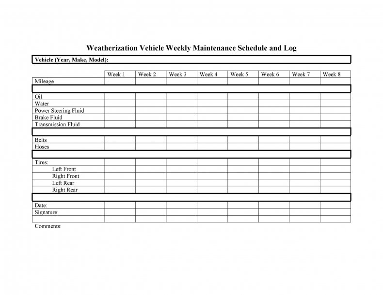 In the past a car was well. 9 Vehicle Maintenance Log Templates Pdf Excel Download