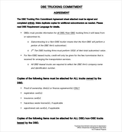 9+ Truck Lease Agreement Form Download [PDF. Word]