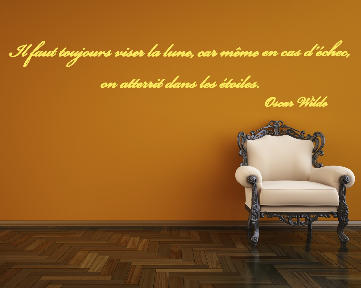 Sticker Citation Duoscar Wilde With Stickers Pour Chambre