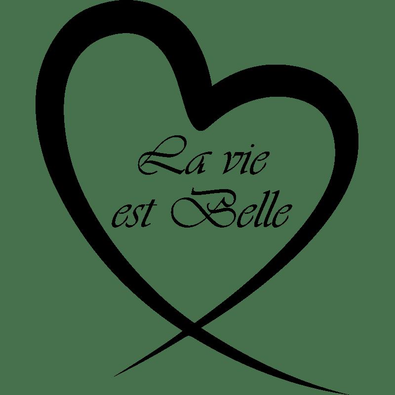 Sticker La vie est belle  stickers citation  texte  opensticker