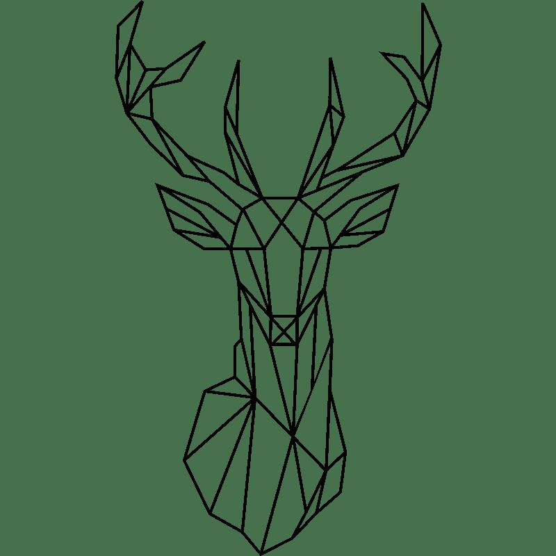 Sticker tête de cerf géométrique