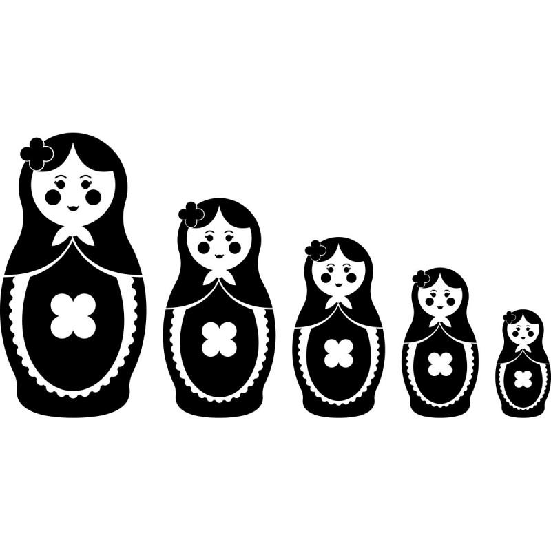 Sticker poupes Russe dcroissantes