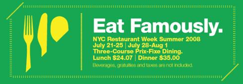 nyc 2008 restaurant week
