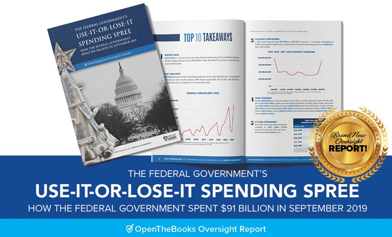 Forbes: Ten Ways Binge-Buying Bureaucrats Spent $91 Billion In A Year-End 2019 Shopping Spree - Opinion - News   Open The Books