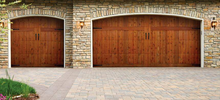 Doorlink Woodland Creek Wood Overlay Doors  Open Up Garage Door Inc  Open Up Garage Door Inc