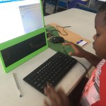 Kid coding web page with HTML & CSS