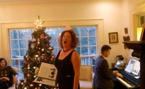 Ellena Hogrefe, mezzo-soprano, AOG, holiday party