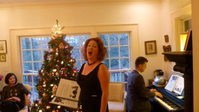 Ellena Hogrefe, mezzo-soprano, AOG, holiday party