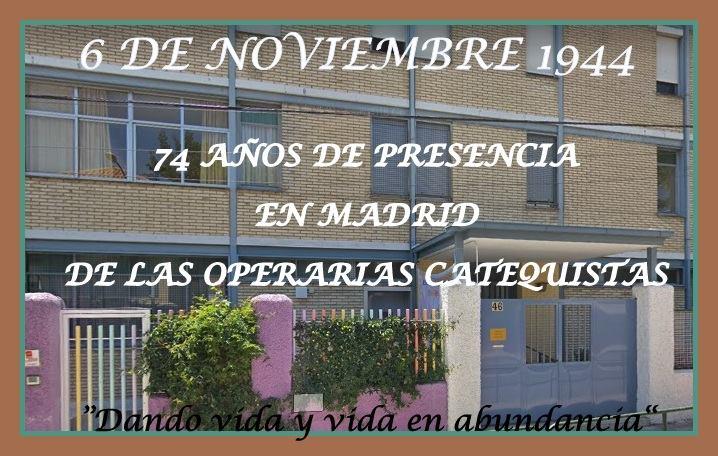 Aniversario fundación casa de Madrid de las O. Catequistas