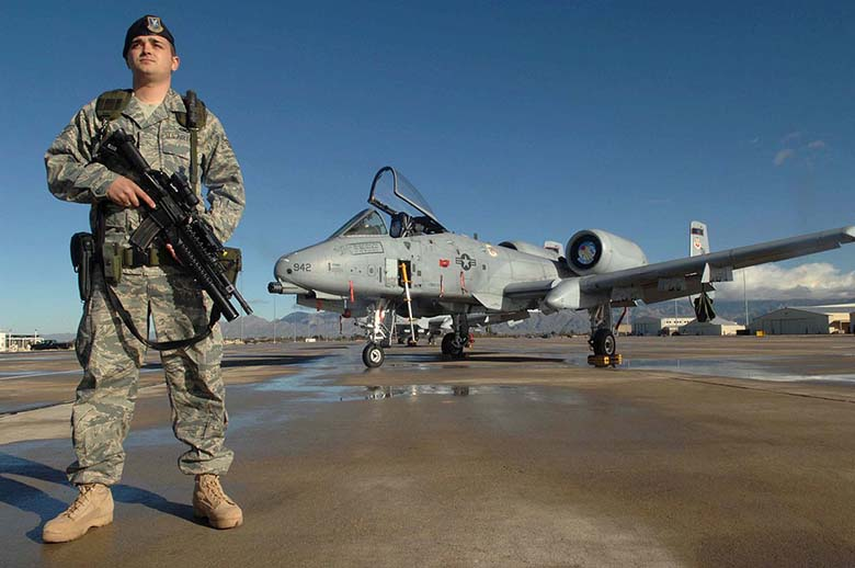 Top 10 list of Air Force commands where airmen are at most