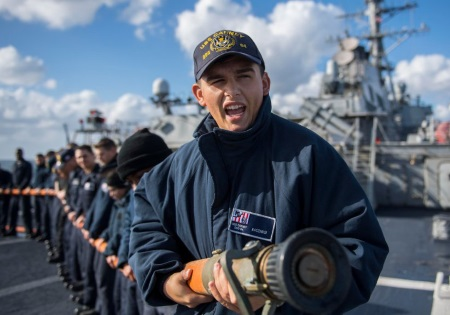 navy seaman at work
