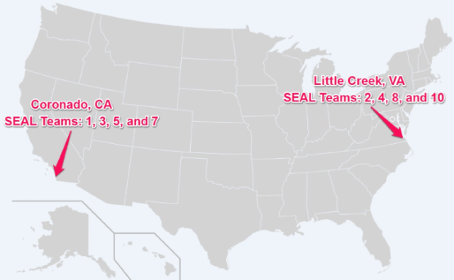 where the SEAL Teams are located