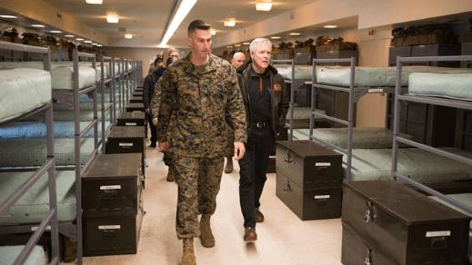 a marine corps barracks inspection