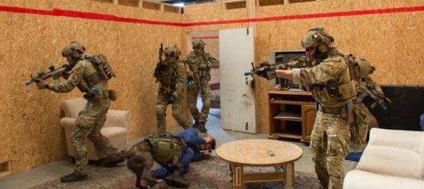 an example of close quarters battle training