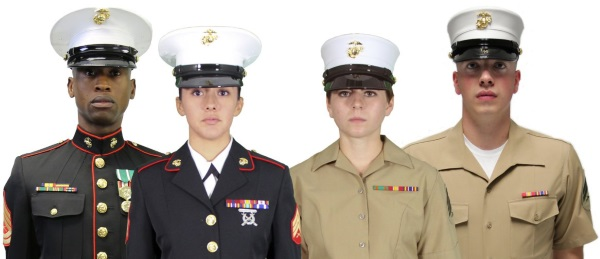examples of marine corps uniforms