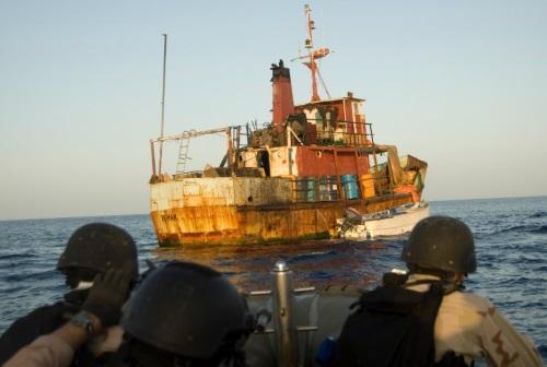 navy vbss team approaches a Somali ship - combat navy jobs