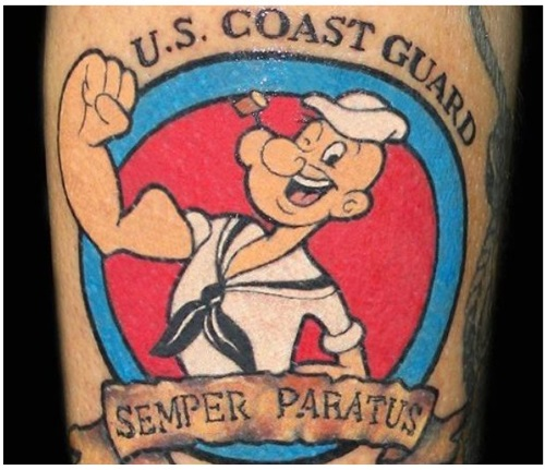 coast guard popeye tattoo