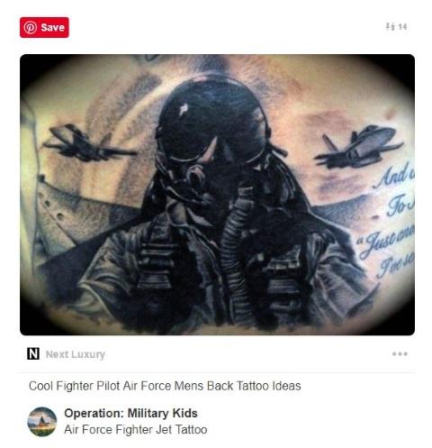 fighter jet cockpit tattoo