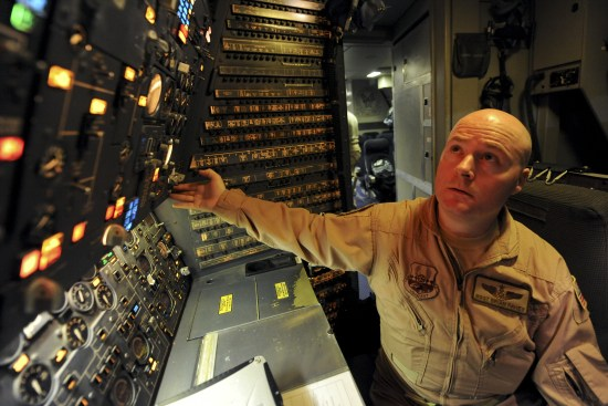 an Flight Engineer at work