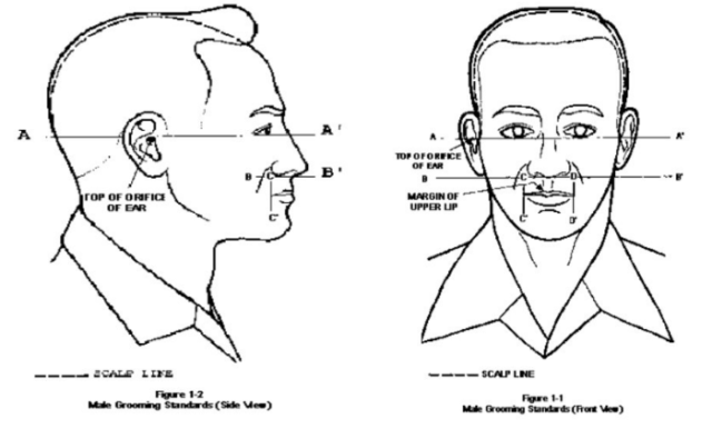 air force mustache and hair regulations graphic