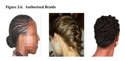 authorized female hairstyles - air force