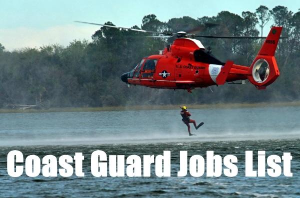 coast guard jobs list