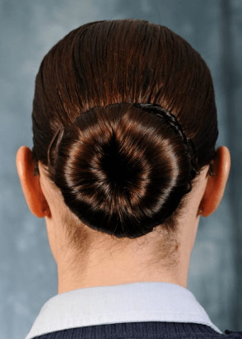 female hairstyle in a bun - air force regs