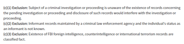 foia exclusions