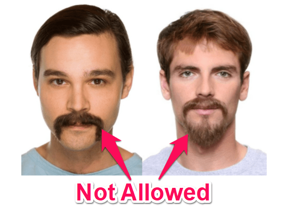 handlebar mustaches and goatees are not allowed in the US Navy